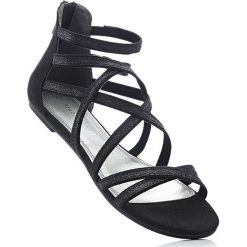 Sandały Marco Tozzi bonprix czarny. Czarne rzymianki damskie bonprix. Za 69,99 zł.