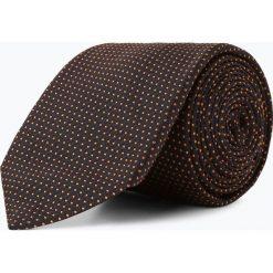 BOSS - Krawat jedwabny męski – Tie 7,5 cm, pomarańczowy. Brązowe krawaty męskie Boss, z jedwabiu. Za 349,95 zł.
