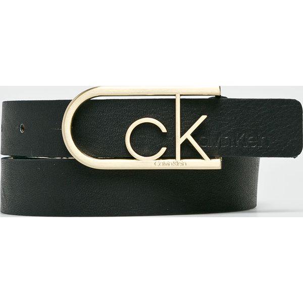 05756759aac8 Calvin Klein - Pasek skórzany - Czarne paski damskie Calvin Klein