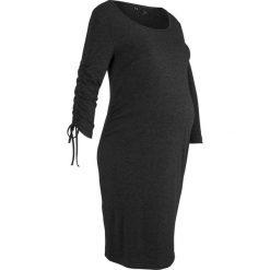 Sukienka ciążowa shirtowa bonprix antracytowy melanż. Szare sukienki ciążowe marki bonprix, melanż, z okrągłym kołnierzem, moda ciążowa. Za 59,99 zł.