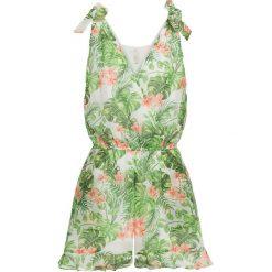 Kombinezony damskie na lato: Kombinezon bonprix zielono-biało-jasnoróżowy