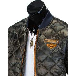 KURTKA MĘSKA PRZEJŚCIOWA PIKOWANA C317 - MORO. Szare kurtki męskie pikowane marki Ombre Clothing, m, moro, z nylonu, eleganckie. Za 109,00 zł.
