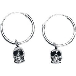 Skull Kolczyki srebrny. Szare kolczyki damskie Skull, srebrne. Za 42,90 zł.