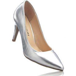 Czółenka bonprix srebrny metaliczny. Szare buty ślubne damskie bonprix, na szpilce. Za 89,99 zł.