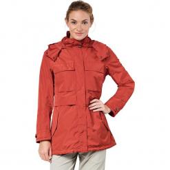 """Kurtka funkcyjna """"Rosamond"""" w kolorze czerwonym. Czarne kurtki damskie marki Jack Wolfskin, w paski, z materiału. W wyprzedaży za 587,95 zł."""