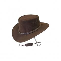 Kapelusz jeździecki Jamoo brązowy. Brązowe kapelusze damskie marki No brand, z materiału. W wyprzedaży za 129,99 zł.