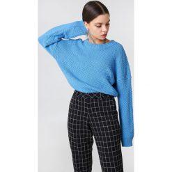 Swetry klasyczne damskie: Samsoe & Samsoe Sweter Lina O-N – Blue