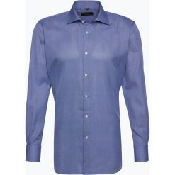 Van Graaf - Męska koszula z poszetką – Manifattura Tessuti Italiani, niebieski. Niebieskie koszule męskie wizytowe Van Graaf, m, z włoskim kołnierzykiem. Za 299,95 zł.