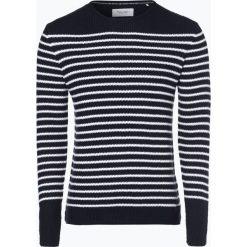 Marc O'Polo Denim - Sweter męski, niebieski. Niebieskie swetry klasyczne męskie Marc O'Polo DENIM, l, w paski, z denimu, polo. Za 379,95 zł.
