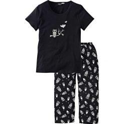Piżamy damskie: Piżama bonprix czarno-biały