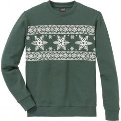 Bluza Regular Fit bonprix zielony wojskowy - biały z nadrukiem. Czerwone bluzy męskie rozpinane marki KALENJI, m, z elastanu, z długim rękawem, długie. Za 74,99 zł.