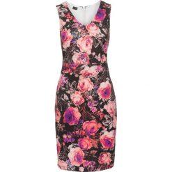 Sukienki: Sukienka neoprenowa w kwiaty bonprix czarny w kwiaty