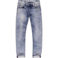 Dżinsy - Slim fit - w kolorze niebieskim. Niebieskie spodnie chłopięce marki Retour Denim de Luxe. W wyprzedaży za 115,95 zł.