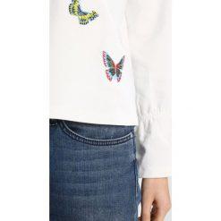 Bluzy rozpinane damskie: TOM TAILOR DENIM EMBROIDERY SWEATER CREW Bluza off white
