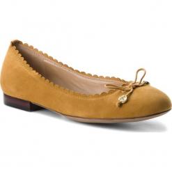 Baleriny LAUREN RALPH LAUREN - Glennie 802709855004 Saffron. Żółte baleriny damskie lakierowane Lauren Ralph Lauren, ze skóry ekologicznej. Za 439,90 zł.