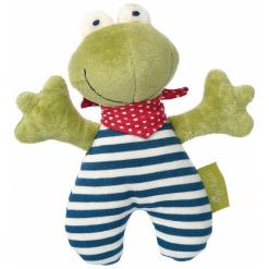 SIGIKID Przytulanka grzechotka Żabka kolekcja ekologiczna Green. Zielone przytulanki i maskotki SIGIKID, z bawełny. Za 72,90 zł.