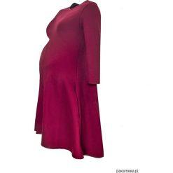 Sukienki ciążowe: Sukienka ciążowa klosz dłuższy tył bordo