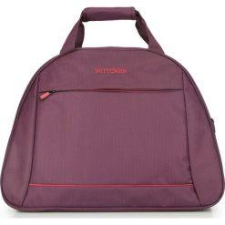 Torba podróżna 56-3S-465-35. Czerwone torebki klasyczne damskie marki Wittchen, w paski, z materiału. Za 119,00 zł.