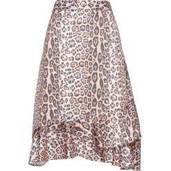 Spódnica z falbanami bonprix biel wełny - szary - brzoskwiniowy. Białe spódniczki bonprix, z wełny. Za 109,99 zł.