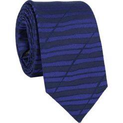 Jedwabny krawat KW000080. Niebieskie krawaty męskie Giacomo Conti, z jedwabiu. Za 129,00 zł.