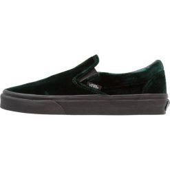 Vans UA CLASSIC SLIPON Półbuty wsuwane green/black. Zielone trampki damskie slip on marki Vans, z materiału. W wyprzedaży za 209,25 zł.