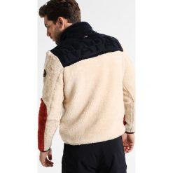 Napapijri YUPIK HALF  Bluza z polaru white. Brązowe bluzy męskie rozpinane marki Napapijri, m, z materiału. W wyprzedaży za 567,20 zł.