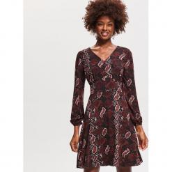 Sukienka ze wzorem - Brązowy. Brązowe sukienki marki Esprit, z bawełny, eleganckie, moda ciążowa. Za 79,99 zł.