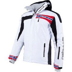 """Kurtka narciarska """"Freestyle"""" w kolorze biało-czarnym. Białe kurtki sportowe męskie Nebulus, m, narciarskie. W wyprzedaży za 431,95 zł."""