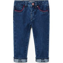 Jeansy dziewczęce: Mango Kids – Jeansy dziecięce Free 80-104 cm
