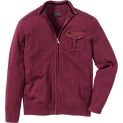 Swetry męskie: Sweter rozpinany Regular Fit bonprix ciemnoczerwony