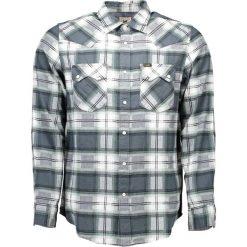 Koszule męskie: Koszula w kolorze biało-zielonym