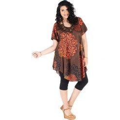 Odzież damska: Sukienka w kolorze pomarańczowo-brązowym