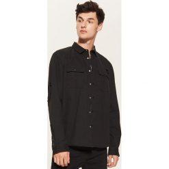 Koszula oversize - Czarny. Szare koszule męskie marki House, l, z bawełny. Za 89,99 zł.