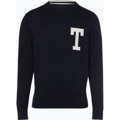 Tommy Hilfiger - Sweter męski, niebieski. Niebieskie swetry klasyczne męskie TOMMY HILFIGER, m. Za 449,95 zł.