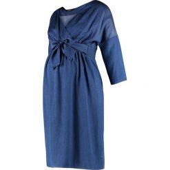 9Fashion BERRY Sukienka jeansowa indigo. Niebieskie sukienki 9Fashion, l, z jeansu. Za 359,00 zł.