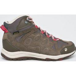 Jack Wolfskin - Buty Rocksand Texapore Mid. Szare buty trekkingowe damskie Jack Wolfskin. W wyprzedaży za 479,90 zł.
