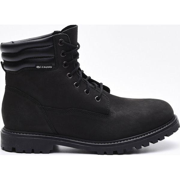 6045ef00 Skórzane trapery - Czarny - Czarne buty zimowe męskie Cropp. W ...