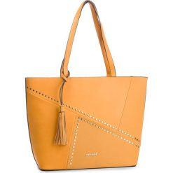 Torebka MONNARI - BAG4830-002 Yellow. Brązowe torebki klasyczne damskie marki Monnari, w paski, z materiału, średnie. W wyprzedaży za 199,00 zł.