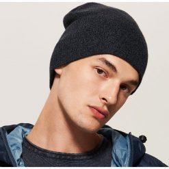 Melanżowa czapka - Granatowy. Niebieskie czapki zimowe męskie marki House. Za 25,99 zł.