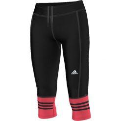 Adidas Legginsy Response 3/4 czarno-czerwone r. S (AI8291). Czarne legginsy sportowe damskie marki Adidas, l, z bawełny. Za 69,07 zł.