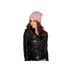 Kobieca czapka w warkocze LC107. Czerwone czapki zimowe damskie Lemoniade, na jesień. Za 69,90 zł.