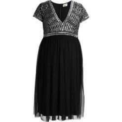 Lace & Beads Curvy Sukienka koktajlowa black/gold. Czarne sukienki koktajlowe Lace & Beads Curvy, z materiału. W wyprzedaży za 367,20 zł.
