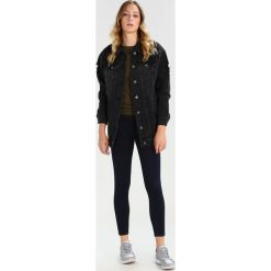 Bomberki damskie: Noisy May NMANGIE LOOSE LONG FOIL Kurtka jeansowa black