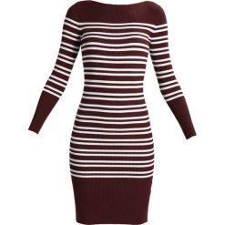 Sukienki: Selected Femme SFHARPER BOATNECK DRESS Sukienka etui decadent chocolate/snow white