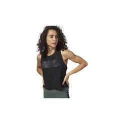 Topy na ramiączkach / T-shirty bez rękawów Reebok Sport  Top Training Essentials Marble. Czarne topy sportowe damskie Reebok Sport, l. Za 99,95 zł.