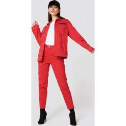 Cheap Monday Jeansy Donna OD Red - Red. Czerwone spodnie z wysokim stanem Cheap Monday, z jeansu. Za 242,95 zł.