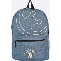 U.S. Polo - Plecak. Szare plecaki męskie U.S. Polo, w paski, z materiału. W wyprzedaży za 89,90 zł.