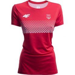 T-shirty damskie: Koszulka funkcyjna damska Chorwacja Pyeongchang 2018 TSDF750 – czerwony wiśniowy