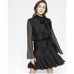 Miss Sixty - Sukienka. Szare długie sukienki marki Miss Sixty, na co dzień, s, z aplikacjami, z jedwabiu, casualowe, z długim rękawem, rozkloszowane. W wyprzedaży za 539,90 zł.