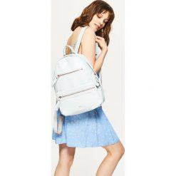 Plecaki damskie: Plecak z eko skóry - Niebieski
